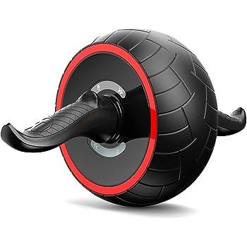 SuperV AB Wheel Roller Addominale Lombare Esercizio con Extra Spessa Ginocchiera Tappetino Allenamento Fitness Ginnico per Palestra