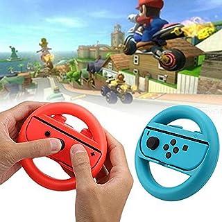 Switch マリオ カート 8 デラックス Joy-Conハンドル コントローラー 専用 Nintendo Switch対応 2個 セット(赤1+青1)
