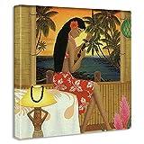 アートデリ ポスター パネル HILO KUME 100cm × 100cm ヒロクメ 日本製 軽量 ファブリック ハワイ ハワイアンhrk-0003-XL