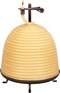 Candle by the Hour 160-Hour Beehive Candle, Eco-friendly Natural Beeswax with Cotton Wick