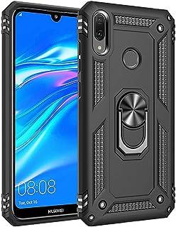 Jeack Compatible con Huawei Y7 2019, Carcasa rígida de protección, Soporte magnético para Coche, protección Antideslizante, antihuellas, Carcasa rígida para Huawei Y7 2019