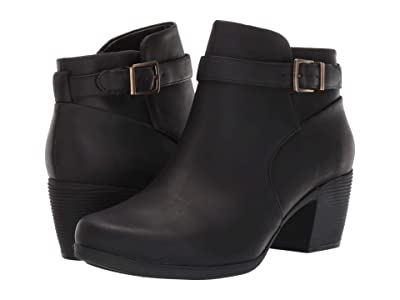 Clarks Un Lindel Lo (Black Oily Leather) Women