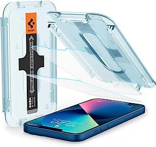Spigen Glas.tR EZ Fit Screenprotector compatibel met iPhone 13 Mini, 2 Stuks, met Sjabloon voor Installatie, Kristalhelde...