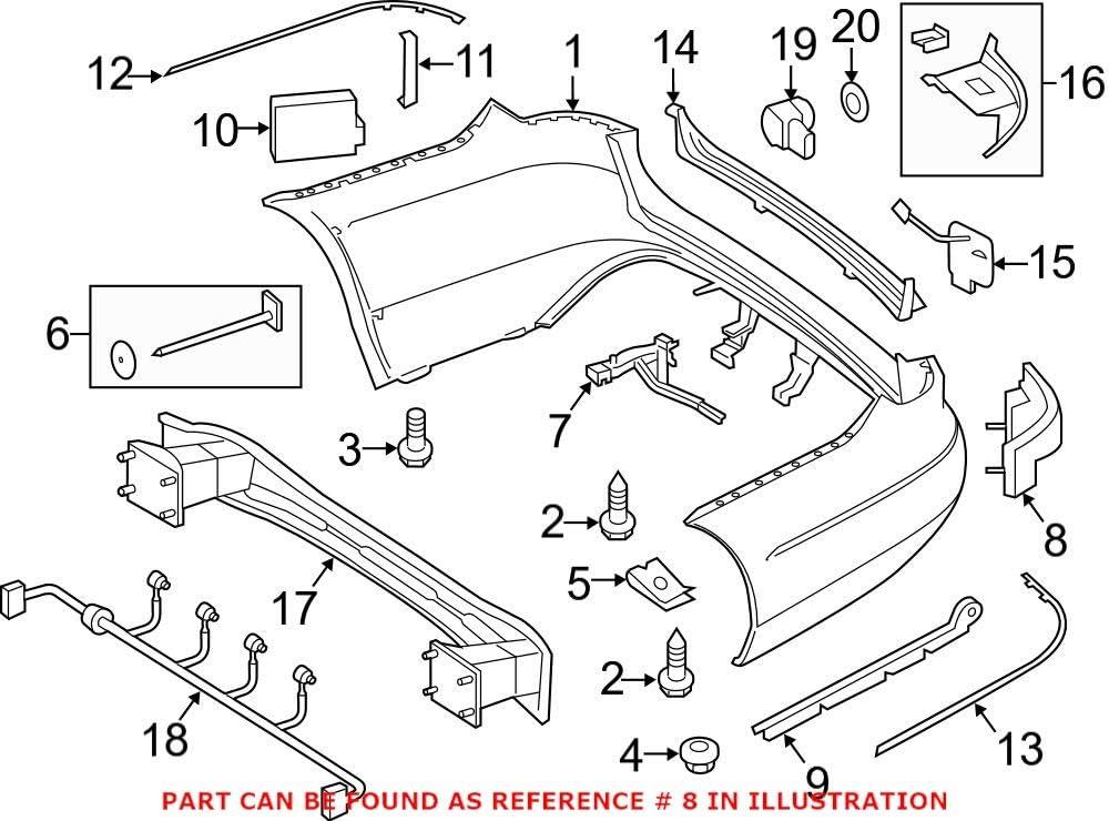 Genuine OEM Bumper Cover Direct sale of manufacturer Support 2128850765 Sale SALE% OFF Rail for Mercedes