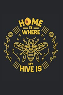 Home Is Where My Hive Is: Beekeeper Notebook, Journal & Diary - Appreciation Gift Idea - 120 Lined Pages, 6x9 Inches, Matt...