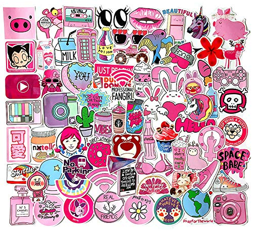 Vsco Sticker Aufkleber 100 Stück, Wasserdicht Vinyl Aesthetic Sticker für Vsco Girl und Kinder für Koffer Laptop Skateboard Auto Helm Motorrad Fahrrad PS4 Snowboard, DIY Party Supplies Patches Decal