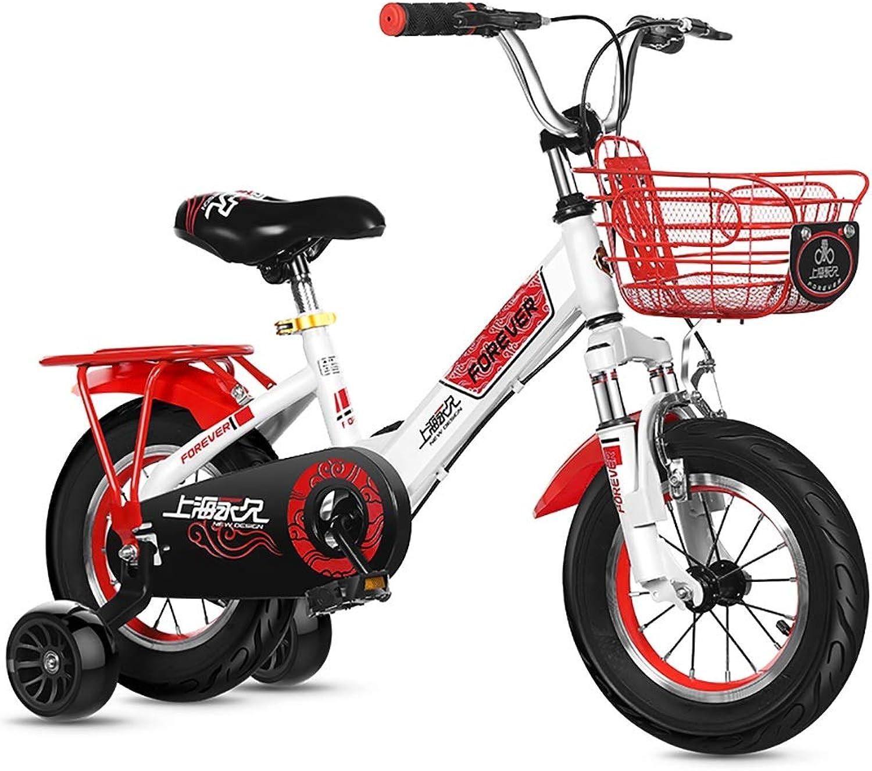 Kinderfahrrad Jungen und Mdchen, Korb und Trainingsrder für 12-, 14-, 16- und 18- und 20-Zoll-Fahrrder, Outdoor-Kinderübungs-Balance-Fahrrad, 2-16 Jahre altes Kind, schwarz wei rot
