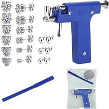 Ear Piercing Kit, Nose Piercing Gun Tool Set with 12 Pcs Stainless Steel Stud Earrings for Salon Home Use, Ear Piercing Gu...