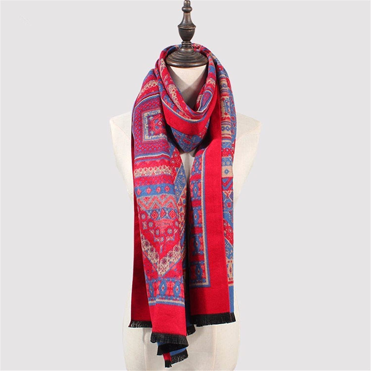 DIDIDD Scarfthickening autumn winter women warm cashmere scarves travel cloak