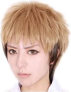 KADIYA Linen Mix Brown Short Cosplay Costume Wig Synthetic Hair for Boy
