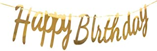 Happy Birthday Banner Gold Big Small Letter Conjoined Birthday Banner Birthday Banner Party Decoration Supplie
