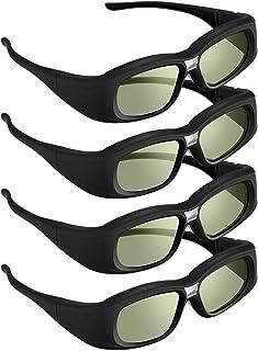 DLP Link 3D Glasses, 144 Hz Rechargeable 3D Active Shutter Glasses for 3D DLP Projectors, Compatible with Acer, ViewSonic,...