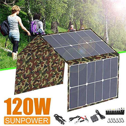 S SMAUTOP Solar Charger, 120 W 18 V Opvouwbare Solar Panel Charger Kits voor Laptop Mobiele Telefoon RV Boot Camping