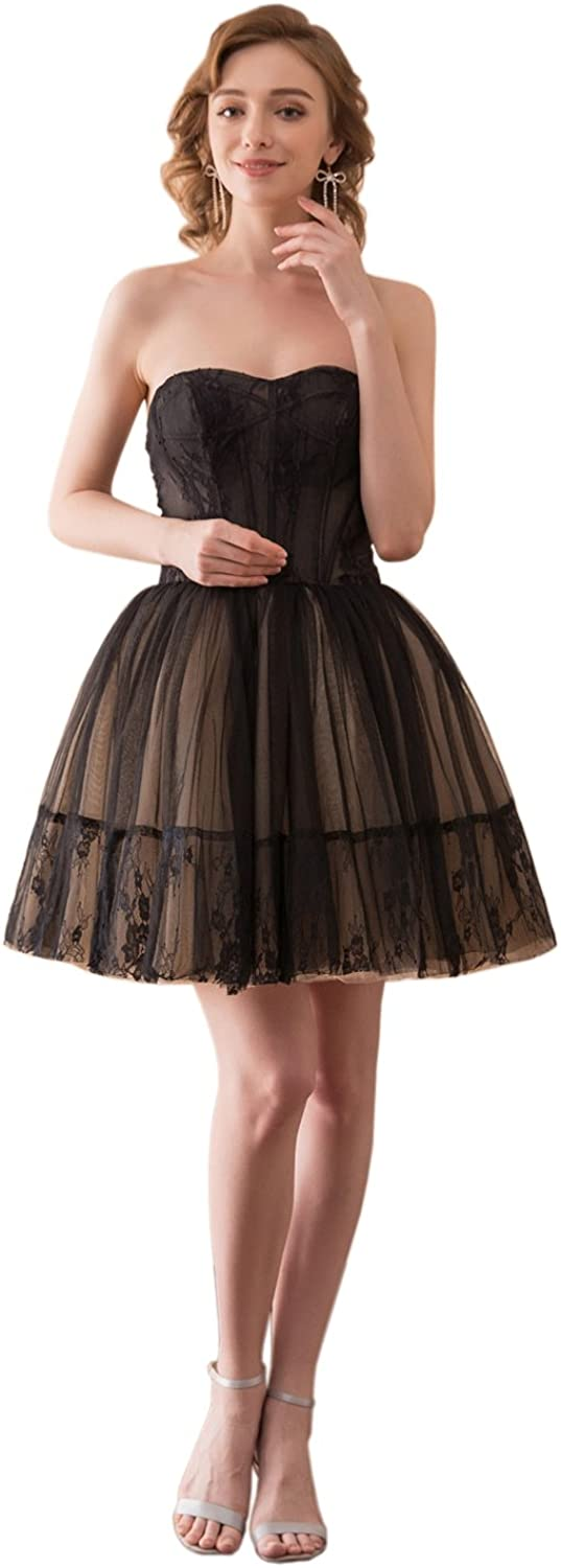 ONLYCE Sweetheart A Line Lace Tulle Homecoming Dress Short Prom Evening Party Cocktail Dress