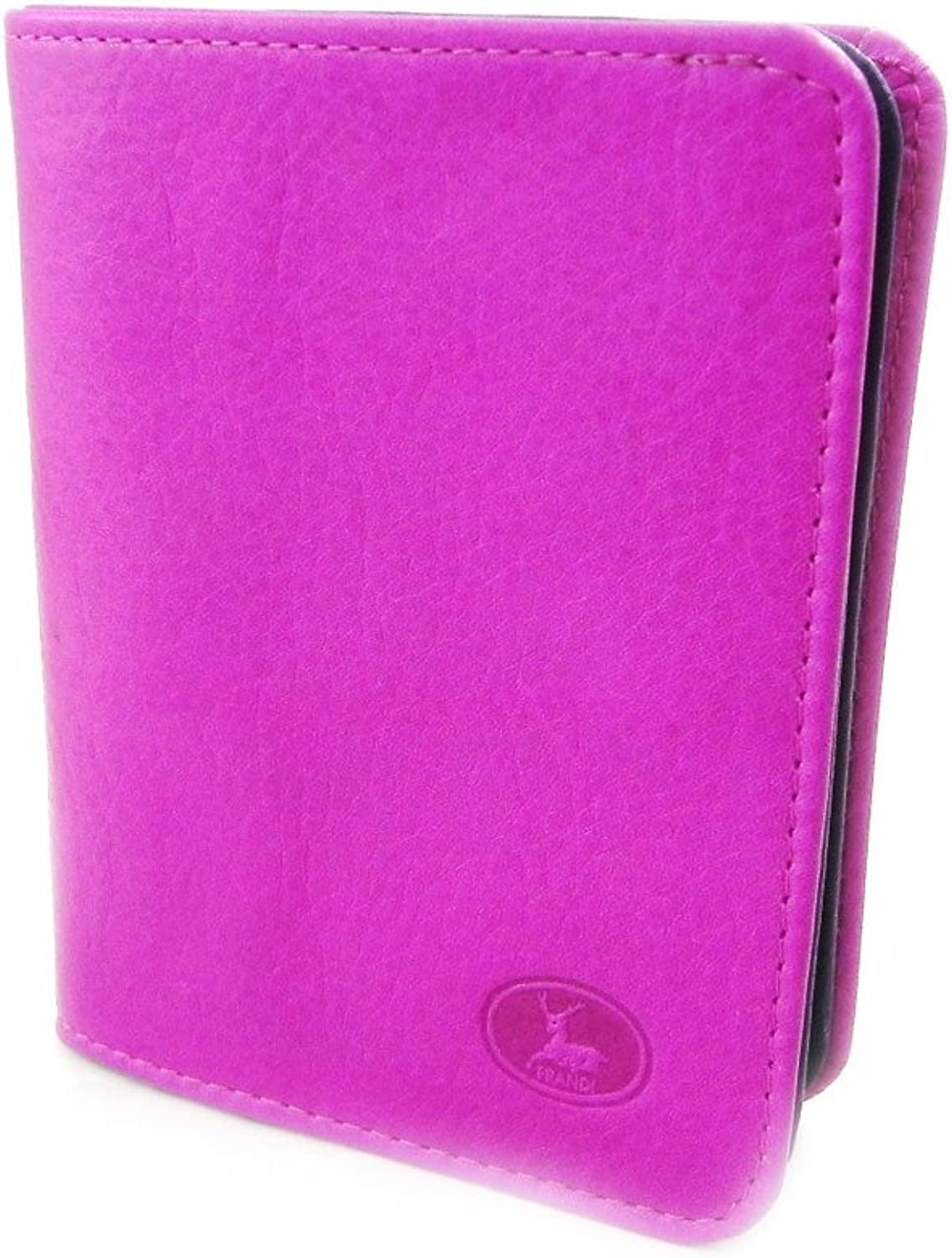[On SALE   SOLDES  ]   Leather wallet  Frandi  2 tone purple wild.