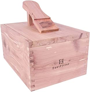 FootFitter Cedar Shoe Shine Valet - Storage Box for all your Shoe Care Supplies!