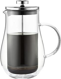 VIENESSO French Press av glas – kaffebryggare för 4 koppar (800 ml) | Ädel kaffepress för hemmet – Coffee Press kaffekokar...