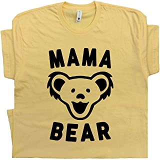Mama Bear T Shirt Cool Vintage 70s 80s Jam Classic Rock Band Gift for Mom to Be Grateful Hippie Best Mother Mommy