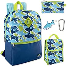 5 in 1 Backpack with Lunch Bag for Boys, Backpack and Lunch Box Set Elementary
