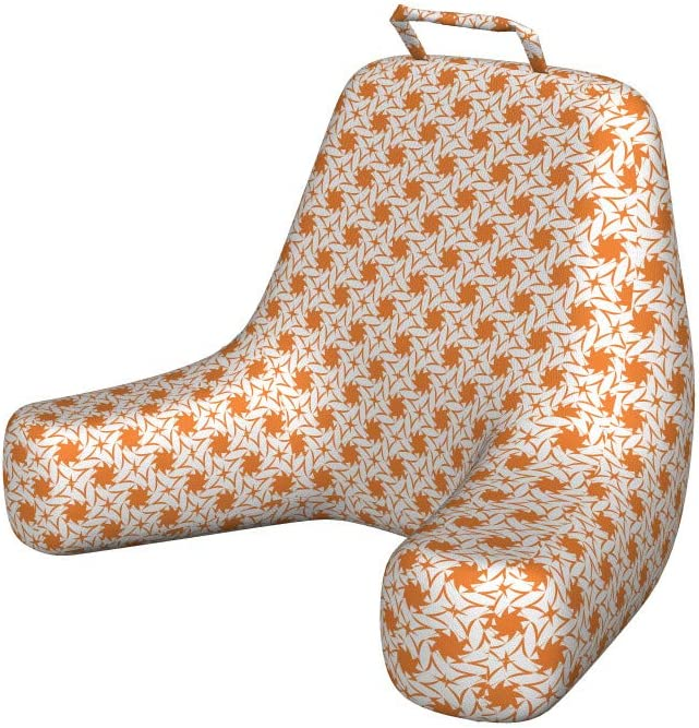 New Orleans Mall Ambesonne 5 ☆ very popular Orange Reading Pillow Monochrome Geometric Sin Floral
