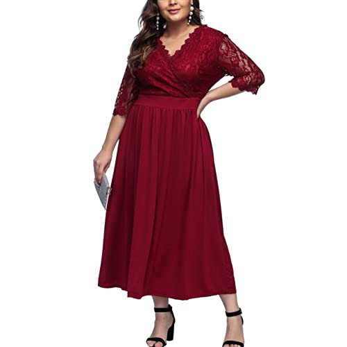 Maroon Dress Plus Size: Amazon.com