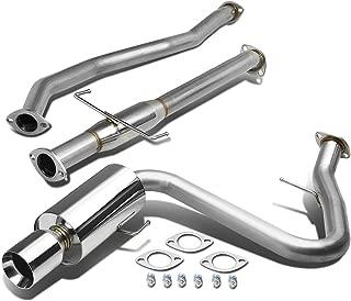 DNA Motoring CBE-STC04-T2-NRT 14mm//Double Walled CBESTC04T2NRT Stainless Steel Catback Exhaust System
