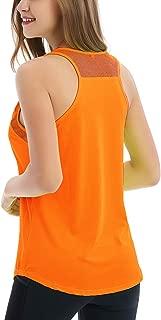 Women's Backless Mesh Yoga Tanks Sport Workout Tank Tops