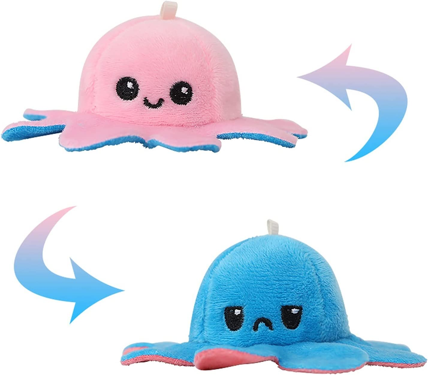 XIAOXINGXING Fashion Colorful Octopus Keychain and Bag Pendant Plush Animal Keychains Gift 1pcs Keychain Key Chains (Color : 3, Size : 10 cm)