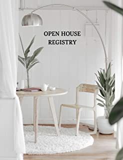 Open House Registry: Guest and Visitors Sign In Book (indoors)