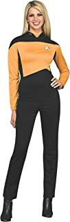 Secret Wishes Women's Star Trek The Next Generation Deluxe Operations Jumpsuit, Gold, Small