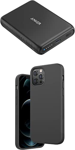 high quality Anker Magnetic Silicone Case, 6.7 Inches high quality for iPhone 12 Pro Max (Dark Gray) Magnetic Wireless Portable Charger, PowerCore sale Magnetic 5K Wireless 5,000mAh Power Bank with USB-C Cable outlet online sale