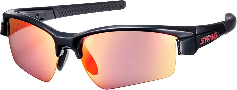 SWANS (Swans) Sports Sunglasses Lion Shin Mirror Lens Model LI SIN1701 BK Black × Black × Black