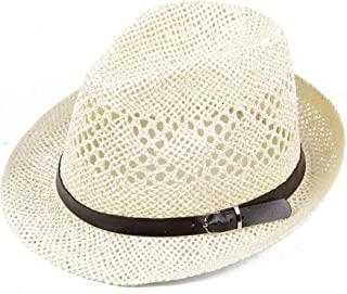 YSNRH Hat Cowboy Straw Hat with Leather Band Shapeable Brim Bush Hat Foldable Straw Harvester Hat (Sun Protection) Beach Hat Fishing Hat with Outdoor Caps for Camping,Outdoor,Hiking,Summer