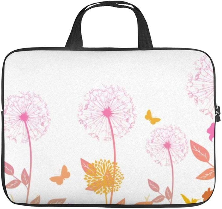 15 Inch Protective Laptop Sleeve Bag Notebook Carrying Case Abstract Rose Notebook Protective Bag Tablet Briefcase Bag with Carrying Handles
