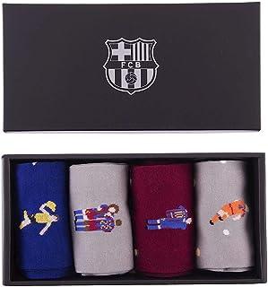 copa, FC Barcelona - Juego de calcetines casuales (tallas 40 a 46)