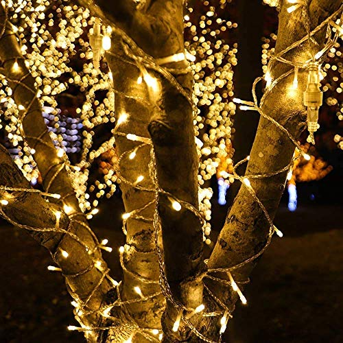 Fairy Lights 100m 800 LED Warm White Plug in, String Lights Mains Powered with Remote Control & Timer, 8 Modes for Bedroom Indoor Outdoor Garden Christmas Decorations