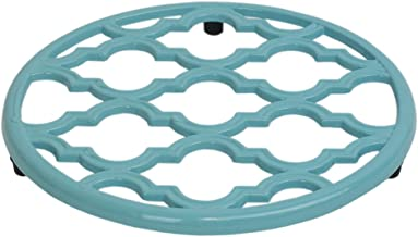 Home Basics Lattice Collection Cast Iron Trivet for Serving Hot Dish, Pot, Pans & Teapot on Kitchen Countertop or Dinning,...