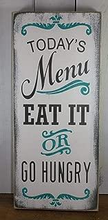 turquoise kitchen menu