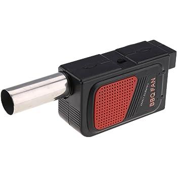Fdit Soplador El/éctrico Peque/ño Ventilador de BBQ Ventilador para Acampar Aire Libre Picnic Cocinar Barbacoa Sin Bater/ías