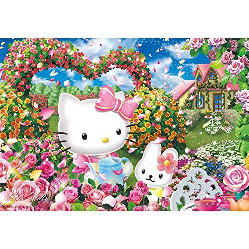 Rowa Puzzles 1000 Stück for Erwachsene Holzerwachsenenbildung Spielzeug Dekorative Geschenk Der Hauptdekoration Malerei Hallo Kity (Color : 500PC)