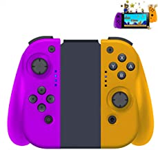 Wireless Joy con Controller for Nintendo Switch, Remote Joy Pad Controller Gamepad Joystick, Comfortable Handheld Joy-Con Remote, Supports Gyro Axis and Dual Vibration(Purple + Yellow)