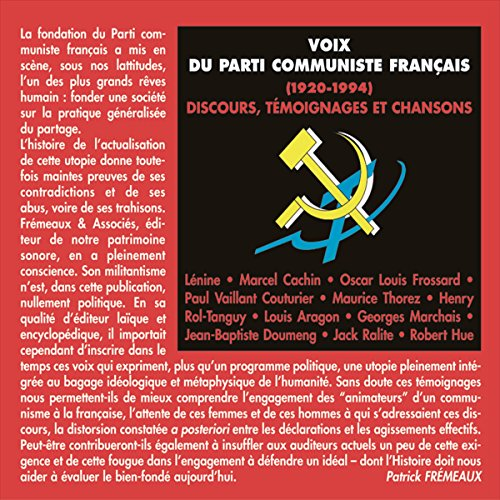 Voix du parti communiste français (1920-1994). Discours, témoignages et chansons Titelbild