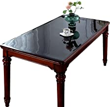 Doorzichtig PVC-tafelkleed, transparant tafelkleed 1,5 mm zwart Sterke doorzichtige plastic tafelkleed Afneembare PVC wate...