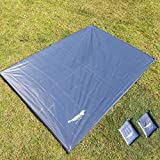Luxe Tempo All Purpose Tent Tarp Person Footprint for Floor Saver Picnic Blanket Easy Rain Cover Sun Shelter for Hammock-Waterproof Lightweight