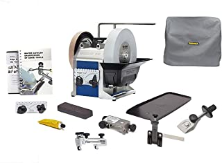 Tormek Sharpening System Chefs System TBC807 T8 A Complete Water Cooled Sharpener with Three Knife Jigs, The Scissors Jig & Machine Cover
