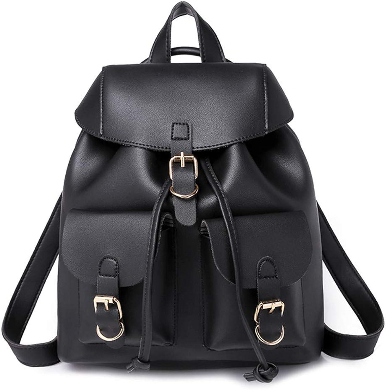 42042482951f Women Drawstring Backpack Solid School Bag Brown Shoulder Rucksack ...