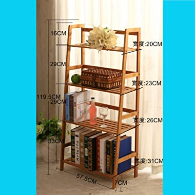 JX&BOOS Estantería Escalera de bambú,Aterrizó bookrack de Simple Estudiante Moderno de librería Simple Multi-Capa Rack almacenaje Rack-A 58x31x120cm(23x12x47): Amazon.es: Hogar
