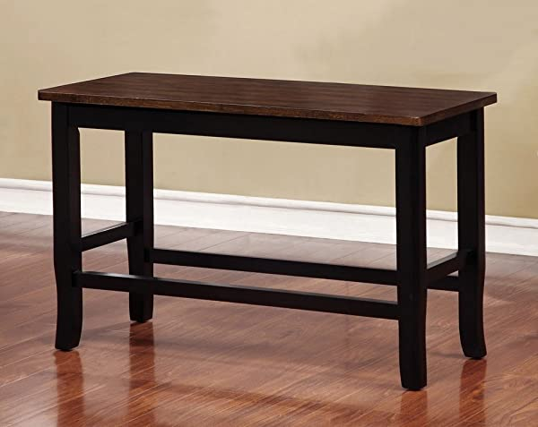 Furniture Of America CM3326BC PBN Dover II Counter Height Seating Bench