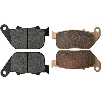 Cyleto Pastillas de freno delanteras y traseras para HARLEY DAVIDSON XL1200C Sportster 1200 Custom 2004-2013//XL1200L Sportster Low 2007-2011