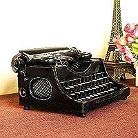 ブラックヴィンテージタイプライターモデル、仕上げアンティークタイプライター、アメリカの田舎スタイルの農家の金属タイプライター、家庭用、オフィス用、バー装飾用